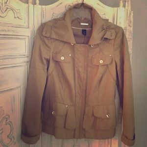WHBM tan and gold jacket, size 8